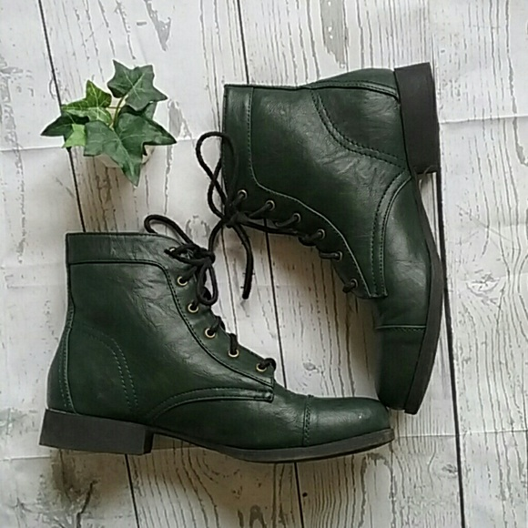 Forever 21 Shoes | Hunter Green Lace Up